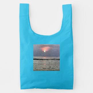 Watery sunset reusable bag
