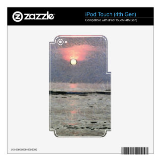 Watery sunset skin for iPod touch 4G