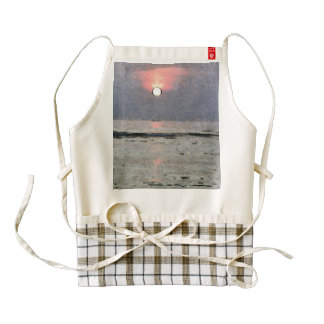 Watery sunset zazzle HEART apron
