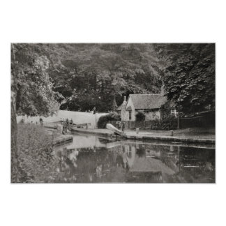 Watford lock, Grand Union Canal Poster