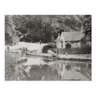 Watford lock vintage photo postcard