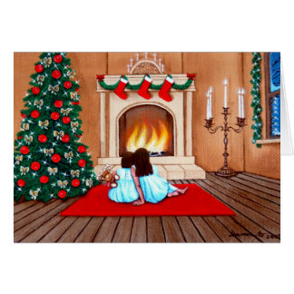 """Wating for Santa Claus"" Card"
