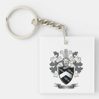 Watkins Family Crest Coat of Arms Keychain