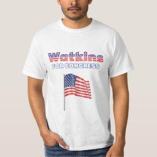 Watkins for Congress Patriotic American Flag T-Shirt