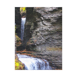 Watkins Glenn State Park Waterfall Scene in Autumn Canvas Print