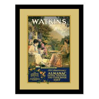 Watkins Ladies in the Garden Postcard
