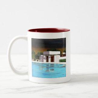 Watkins Reflection at Night Two-Tone Coffee Mug