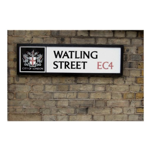 Watling Street EC4 Sign London Poster