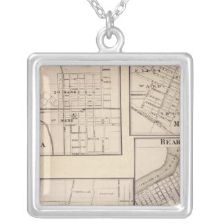 Watseka, Paris, Mt Sterling, Beardstown and Arcola Square Pendant Necklace