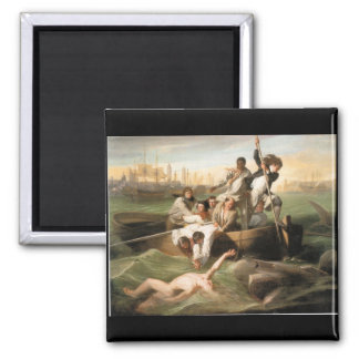 Watson and the Shark, by John Singleton Copley 2 Inch Square Magnet