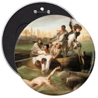 Watson and the Shark, by John Singleton Copley Pinback Button