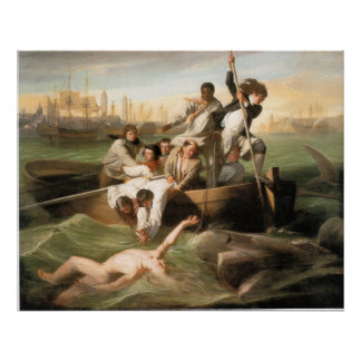 Watson and the Shark by John Singleton Copley Posters