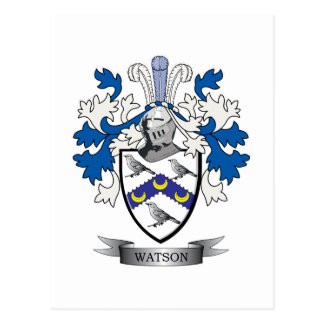 Watson Coat of Arms Postcard