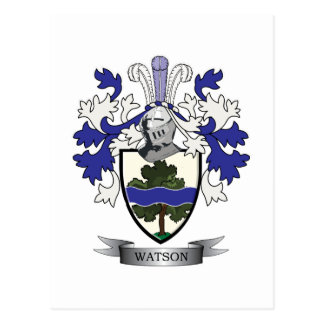 Watson Family Crest Coat of Arms Postcard