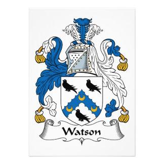 Watson Family Crest Custom Invites