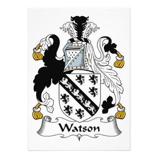 Watson Family Crest Announcements