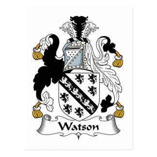 Watson Family Crest Postcard