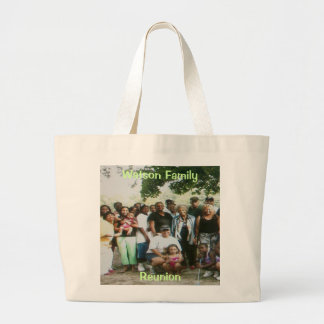Watson Family , Reunion Jumbo Tote Bag