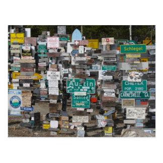 Watson Lake Sign Post Forest Postcard