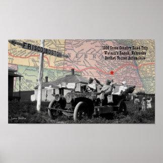 Watson's Ranch Nebraska 1908 Road Trip Poster