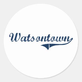 Watsontown Pennsylvania Classic Design Round Sticker