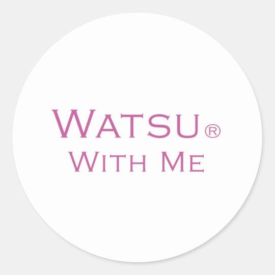 Watsu With Me Classic Round Sticker