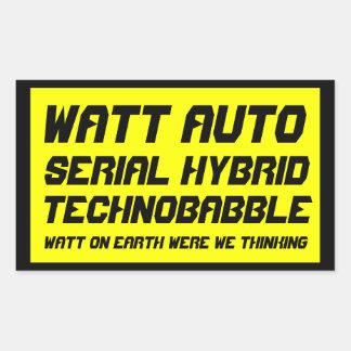 Watt Auto Rectangular Sticker