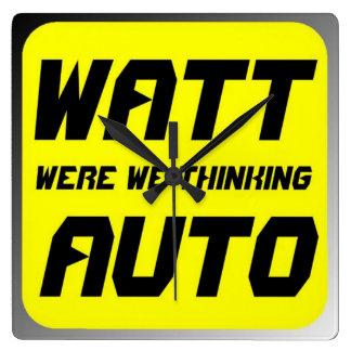 Watt Auto Square Wallclocks