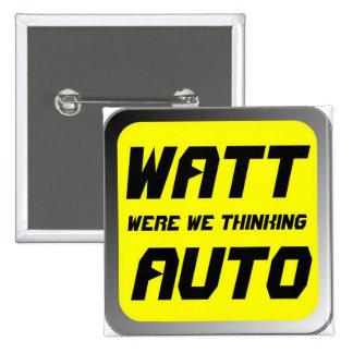 Watt Automobile 2 Inch Square Button