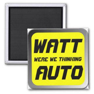 Watt Automobile 2 Inch Square Magnet