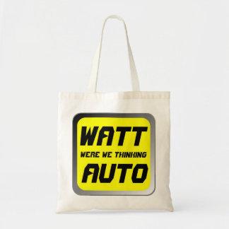 Watt Automobile Budget Tote Bag