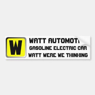 Watt Automobile Car Bumper Sticker