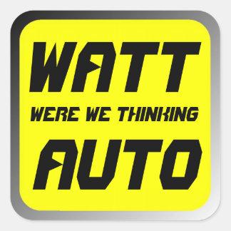 Watt Automobile Square Sticker