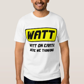 Watt Automobile T-shirts