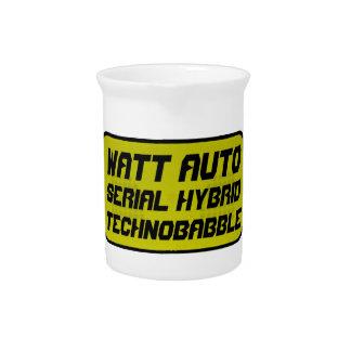 Watt Automobile technobabble Beverage Pitcher
