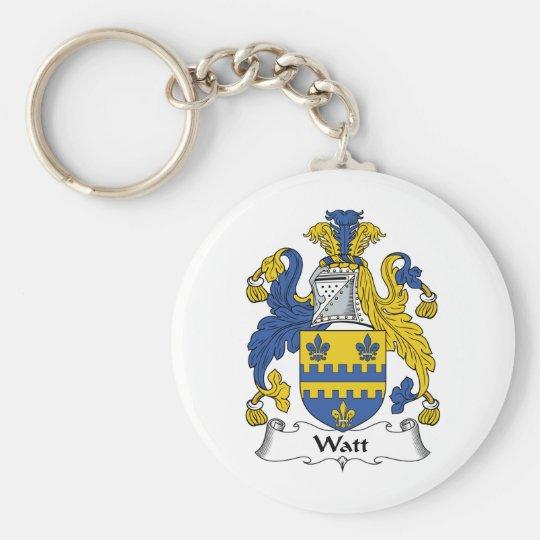 Watt Family Crest Keychain