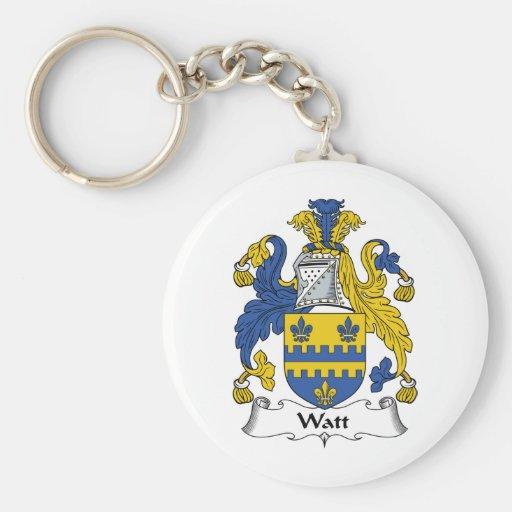 Watt Family Crest Keychains