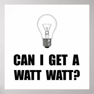 Watt Watt Light Bulb Poster