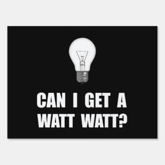 Watt Watt Light Bulb Sign