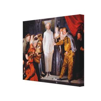 Watteau, arte de Jean-Antoine Impresion De Lienzo