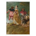 Watteau, arte de Jean-Antoine Tarjeta De Felicitación