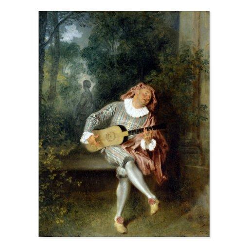 Watteau, arte de Jean-Antoine Tarjeta Postal