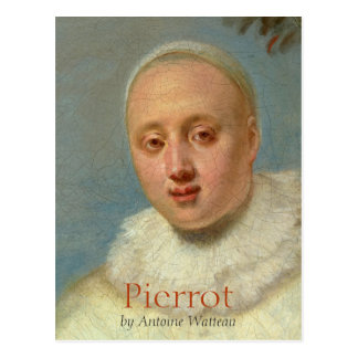 Watteau Italian Comedians Pierrot CC0719 Postcard