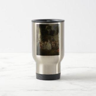 Watteau, Jean-Antoine Art Travel Mug