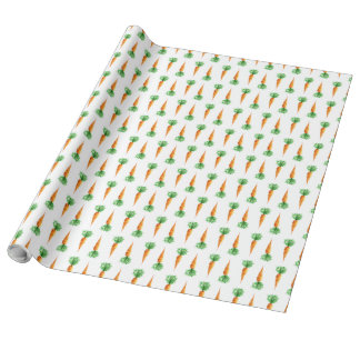 Wattercolor seamless pattern carrots wrapping paper