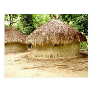 Wattle and Daub huts Postcard