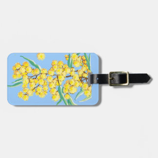 Wattle flowers tags for bags
