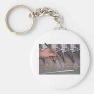 Watts Bar Dam Basic Round Button Keychain