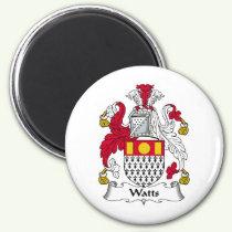 Watts Family Crest Magnet