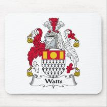 Watts Family Crest Mousepad